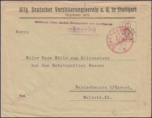 Infla-Notausgabe Gebühr-bezahlt-Drucksache Franko-Stempel STUTTGART 21.9.(23)