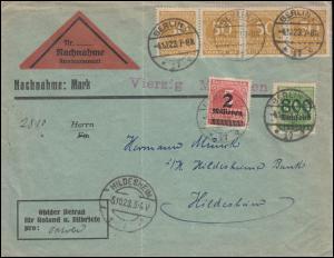 Infla-Notausgabe Gebühr-bezahlt-Brief DÜREN / RHEINL. 8.11.23 nach Köln