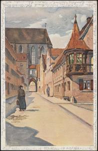Ansichtskarte Klingengasse in ROTHENBURG OP DER TAUBER 27.6.1947