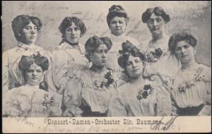 Ansichtskarte Concert-Damen-Orchester Dir. Baumann, NEUNKIRCHEN 8.4.1907