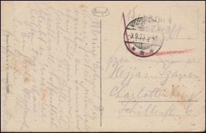 Infla-Notausgabe Gebühr-bezahlt-Stempel auf AK Familienbad Norderney 3.9.1923