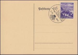 807 Veldes / Kärnten auf Blanko-Postkarte SSt WIEN 47. Philatelistentag 1941