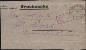 Infla-Notausgabe Gebühr-bezahlt-O Briefstück Drucksache BRAUNSCHWEIG 30.11.23