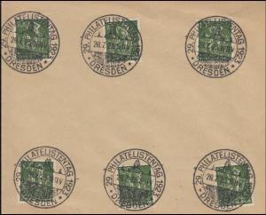 Sonderstempel 29. Philatelistentag 1923 DRESDEN 28.7.23 auf Blanko-Umschlag