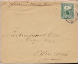Peru 92 Revolutionsmarke 2 Centavos Auslandsbrief nach Oker/Harz, Lima
