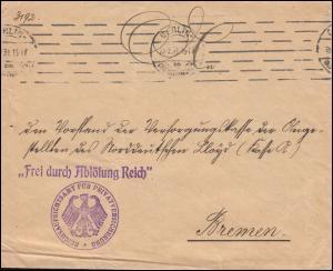 Frei durch Ablösung Reich Bf. Aufsichtsamt Privatversicherungen BERLIN 23..2.31