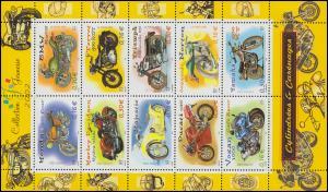 3645-3654 Motorräder 2002 - Kleinbogen **