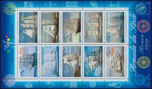 3410-2419 Schiffsparade Segelschiffe Armada du Siecle 1999 - Kleinbogen **