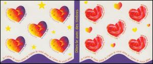 Markenheftchen 3361-3362 Grußmarken - Sterne und Rose, selbstklebend, **