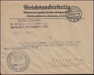 Frei durch Ablösung Reichsministerium Ernährung & Landwirtschaft BERLIN 20.12.23