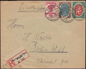 107+108+109 Nationalversammlunmg R-Bf. Büro des Reichspräsidenten WEIMAR 23.7.19