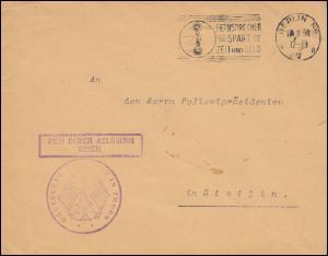 Frei durch Ablösung Reich Deutsches Konsulat in Thorn über BERLIN 17.2.1930