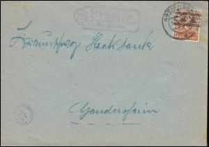 44I Band 24 Pf EF auf Brief Landpost Brunsen über KREIENSEN Juni 1948