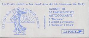 Markenheftchen 3761 Säerin und 3558 Marianne Luquet 2003, selbstklebend, **