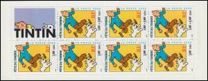 Markenheftchen 54 Tag der Briefmarke - Comicfigur Tintin (Tim), **
