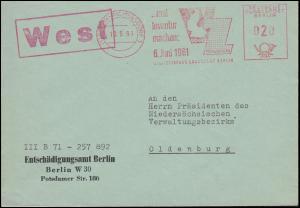 AFS Statistisches Landesamt Entschädigungsamt BERLIN-WILMERSDORF 10.5.1961