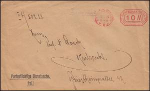 AFS auf Drucksache Reichsversicherungsanstalt für Angestellte BERLIN 31.1.1923