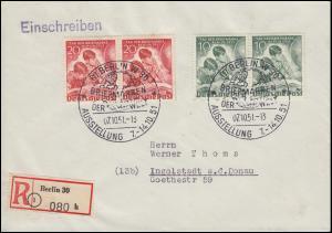 80-81 Tag der Briefmarke als Paar-Satz R-FDC passender ESSt BERLIN 7.10.1951