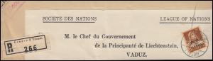 Völkerbund (SDN) 18x Tell mit Armbrust auf Briefausschnitt GENF 15.5.1937