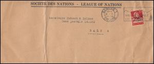 Völkerbund (SDN) 17x Tell mit Armbrust EF auf Brief GENF 6.5.1930 nach Basel