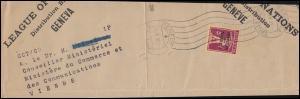 Völkerbund (SDN) 28x Tellknabe auf Briefstück GENF 21.8.1931