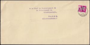 Völkerbund (SDN) 38 Abrüstungskonferenz als EF auf Brief GENF 30.7.33 nach Vaduz