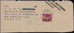 Völkerbund (SDN) 28x Tellknabe auf Briefstück GENF 12.8.1931