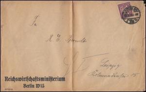 164 Ziffer mit Perfin M&S als EF auf Drucksache BERLIN 22.7.1922 nach Leipzig