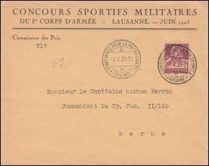 165 Tell mit Armbrust EF Brief SSt LAUSANNE Friedenskonferenz im Osten 6.5.1923
