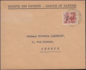 Völkerbund (SDN) 72 Landschaften auf Orts-Brief GENF 19.4.1946