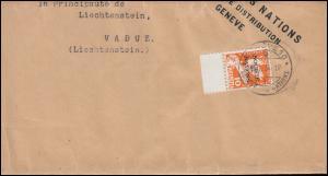 Völkerbund (SDN) 37 Abrüstungskonferenz mit UR als EF Streifband GENF 5.1.1934