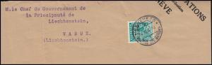 Völkerbund (SDN) 43 Landschaften auf Briefstück GENF 14.11.1935