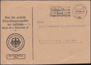 Frei durch Ablösung Amt für Verwaltungsaufgaben der Luftfahrt BERLIN 17.11.1936