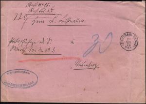 Dienstsache Württembergische Staats-Schuldenzahlungs-Kasse STUTTGART 29.11.1876