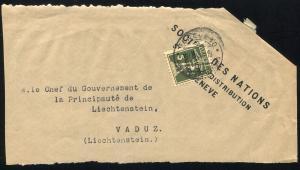 Völkerbund (SDN) 29 Tellknabe auf Briefstück GENF 1934