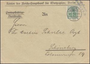 70 Germania EF Brief Kontor der Reichshauptbank für Wertpapiere BERLIN 18.4.05
