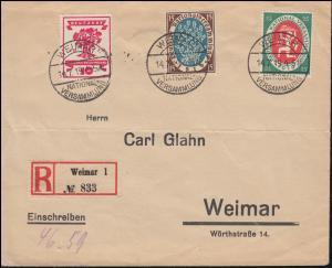 107+108+109 Nationalversammlung Orts-R-Brief WEIMAR-NATIONALVERSAMMLUNG 14.7.19