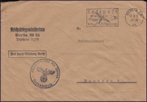 Frei durch Ablösung Reichskriegsministerium Berlin 17.8.1936 Brief nach Bautzen