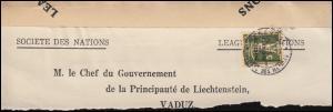Völkerbund (SDN) 29 Tellknabe auf Briefstück GENF 25.5.1934