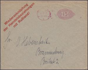 AFS HAMBURG 6.8.21 Drucksache Wiederanknüpfung Handeslbeziehungen mit Rußland