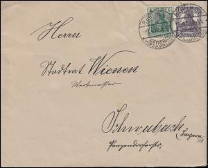 Brief Reichstag Abgeordneter Germania-MiF BERLIN Nationalversammlung 15.4.20