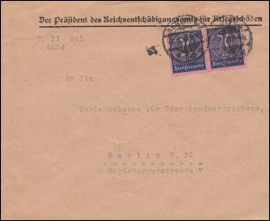 72 Dienstmarke als MeF auf Orts-Brief Reichsentschädigungsamt BERLIN 3.5.1923