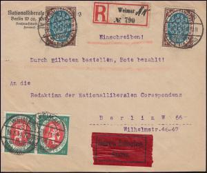 107+108+109 Nationalversammlung Briefstück WEIMAR-NATIONALVERSAMMLUNG 19.7.1919