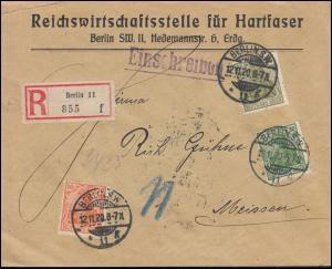 141+143+147 Germania-MiF R-Bf. Reichswirtschaftsstelle Hartfaser BERLIN 12.11.20