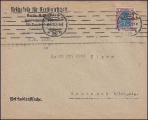 152 Germania Reichsdienstsache Reichsstelle für Textilwirtschaft BERLIN 13.1.22