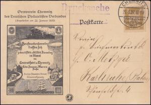 355 Adler EF auf Schmuck-Drucksache SSt CHEMNITZ Briefmarkenausstellung 27.3.27