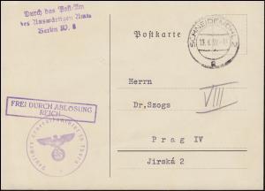 Frei durch Ablösung Reich Generalkonsulat in Thorn auf PK SCHNEIDEMÜHL 13.6.39