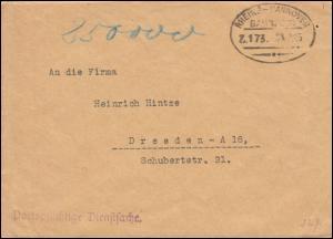Dienstsache Deutsche Botschaft London Bahnpost Zug 173 RHEINE-HANNOVER 23.9.1923