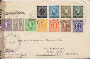 Zensur MILITARY CENSORSHIP 12149 R-Brief AM-Post+Gemeinschaft FRANKFURT 1.5.1946