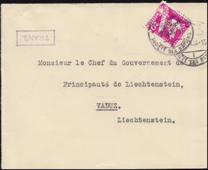 Völkerbund (SDN) 38 Abrüstungskonferenz auf Brief GENF 9.6.1934 nach Vaduz